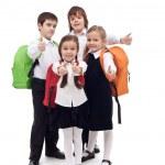glad grundskolan barn - isolerade — Stockfoto