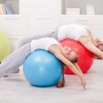 Постер, плакат: Stretching exercises at home
