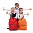 Back to school concept with happy kids — Stock Photo #28921253