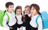 Back to school theme with group of children - closeup — Stock Photo