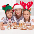 Christmas people together — Stock Photo