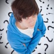 Teenager with questions and doubts — Stock Photo