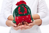 Giving presents to the loved ones at christmas concept — Stock Photo