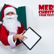 Keeping in touch with santa was never so easy — Stock Photo