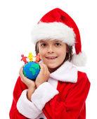 圣诞快乐,所有的世界概念 — 图库照片