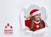 Santa hears your christmas wishes — Stock Photo