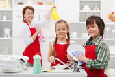 Spring cleaning in the kitchen — Stock Photo