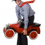 Santa with budget transportation solution — Stock Photo #6410232