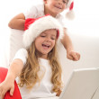Writing a letter to santa - computer generation style — Stock Photo #6430332