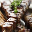 Meat skewer — Stock Photo