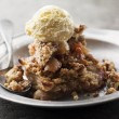 Stock Photo: Apple crumble