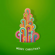 Christmas tree made from curled colorful lines. - Image vectorielle