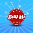Royalty-Free Stock Vector Image: Buy me label with arrows on the background.