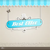 Vintage vector background with place for your text. — Vector de stock
