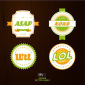 Set of vintage labels. — Stock Vector