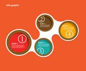 あなたのテキストのための場所と情報グラフィック円. — ストックベクタ