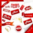 Royalty-Free Stock Vector Image: Set of sale icons, labels, stickers.