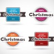 Set of Christmas labels. — Stock Vector