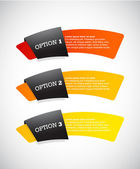 Set of paper labels with place for your own text. — Stock Vector