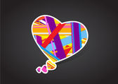 Valentine's heart message bubble. — Stock Vector