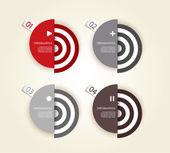 Quattro cerchi di carta colorata con il posto per il tuo testo. — Vettoriale Stock