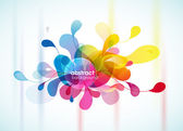 Abstract colorful background reminding flower. — Vector de stock