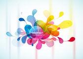 Abstrait coloré rappelant la fleur. — Vecteur