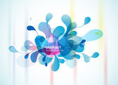 Abstract blue background reminding flower. — Vector de stock