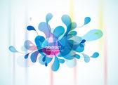 Fondo azul resumen recordando a flor. — Vector de stock