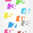 Set of colorful numbers. — Stock Vector