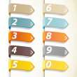 Set of colorful numbers with arrows. — Stock Vector