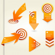 Set of orange labels for wide variety of use. — Stock Vector #30624239