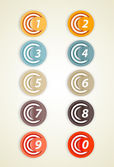 Set of colorful circles with numbers. — Stock Vector