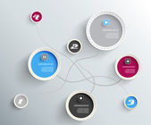Info graphic circles with place for your text. — Stockvektor
