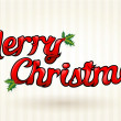 Merry Christmas text worked out to details. Vector art. — 图库矢量图片