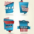 Set of four Made in USA labels. — Stock Vector #33317761