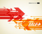 Abstract background with colorful arrows. — Stock Vector
