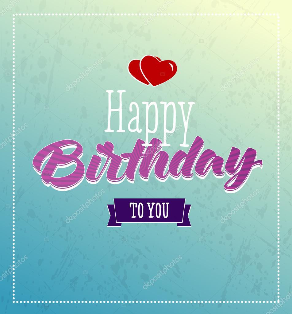 Happy Birthday Retro Images Happy Birthday Retro Vector