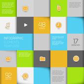 Flat design template - Vector Illustration — Stock Vector