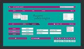 Purple website template on green background. — Vetorial Stock