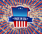 Made in USA label on grunge background. — Vetorial Stock