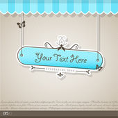 Vintage vector background with place for your text.  — Stock Vector