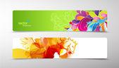 Sada abstraktní barevné webové záhlaví. — Stock vektor