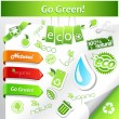 Set of green ecology icons. — Stock Vector #6419853