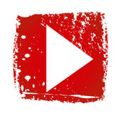 Oude Youtube-pictogram — Stockvector
