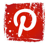 Old web Pinterest Icon — ストックベクタ