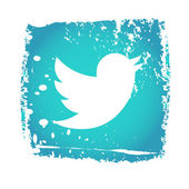 Old Twitter Bird Icon — Stock Vector