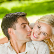 Happy couple together, outdoor — Foto de Stock