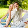 Happy couple together, outdoor — Stock Photo #12579840