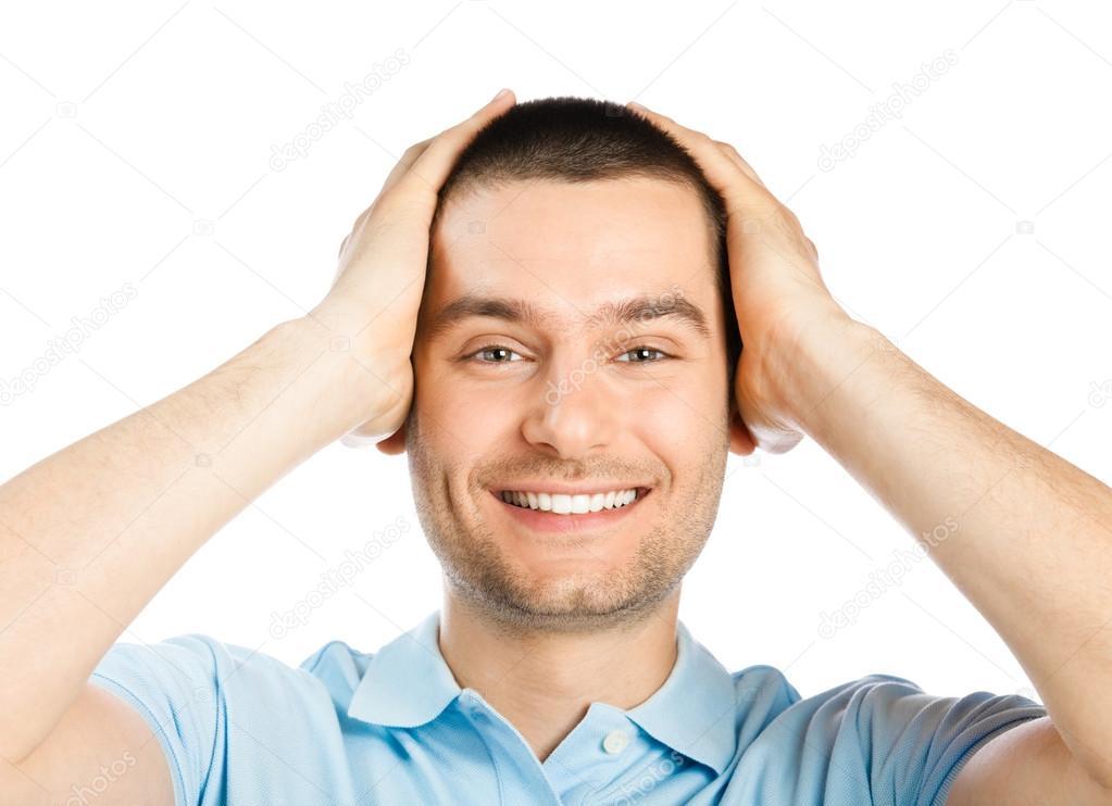 男人面部表情简笔画
